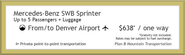 Denver Airport Transportation to Crested Butte