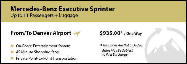 Crested Butte Private Mountain Transportation Prices